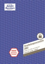 Verarbeitungsverzeichnis, DIN A4, 28 Blatt, nach DSGVO, inkl. Dokumentation.