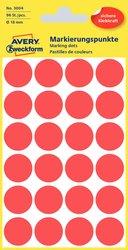 Markierungspunkte rot 18 mm, permanent, 4 Blatt = 96 Etiketten/Punkte.
