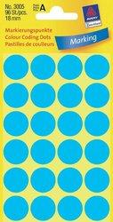 Avery Zweckform Markierungspunkte, Ø 18mm, blau, 96 Etiketten, Packung à 4 Blatt
