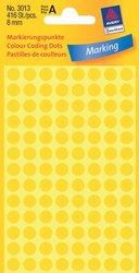Markierungspunkte, gelb, 8 mm, permanent, 4 Blatt = 416 Etiketten/Punkte.
