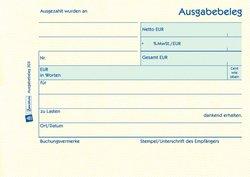 Ausgabebeleg A6 quer, MP, 50 Blatt, gelb