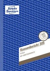 Kassenbericht, DIN A5, mit Mikroperforation, 50 Blatt.