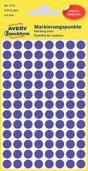Markierungspunkte violett 8mm 4 Blatt = 416 Etiketten/Punkte