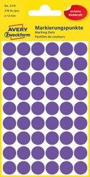 Markierungspunkte violett 12mm 5 Blatt = 270 Etiketten/Punkte