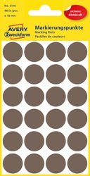 Markierungspunkte, taupe 18 mm, permanent4 Blatt = 96 Etiketten/Punkte.