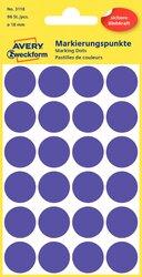 Markierungspunkte, violett, 18 mm, permanent, 4 Blatt = 96 Etiketten/Punkte.