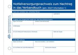 Erste Hilfe Meldeblock, A6, 50 Blatt, zur Dokumentation von Unfällen, Originale mit Perforation und Lochung.