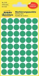 Markierungspunkt, grün, 12 mm, , permanent, 270 Stück.