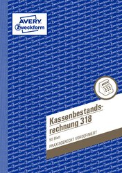 Kassenbericht Bestandsrechnung A5, MP, 50 Blatt