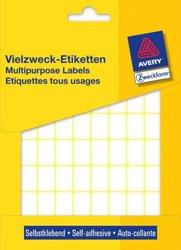 Avery Zweckform Vielzwecketiketten, 18x12mm, 1800 Etiketten, weiß, für Handbeschriftung, Packung à 25 Blatt