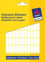 Avery Zweckform Vielzwecketiketten, 20x8mm, 2184 Etiketten, weiß, für Handbeschriftung, Packung à 28 Blatt