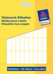 Avery Zweckform Vielzwecketiketten, 32x10mm, 1144 Etiketten, weiß, für Handbeschriftung, Packung à 26 Blatt