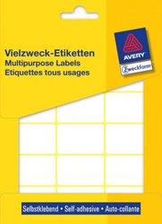 Avery Zweckform Vielzwecketiketten, 38x24mm, 522 Etiketten, weiß, für Handbeschriftung, Packung à 29 Blatt