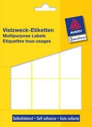 Vielzweck-Etikett, permanent, 66 x 38 mm, weiß, 174 Stück.