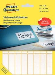 Vielzweck-Etikett, permanent, 50 x 14 mm, weiß, 672 Stück.