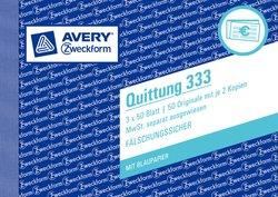 Quittung mit MwSt, A6 quer, mit Mikroperforation, 3 x 50 Blatt.