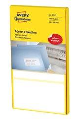 Avery Zweckform endlos Etiketten, 98x48mm, 282 Etiketten, weiß, für Schreibmaschine und Handbeschriftung, leporello-gefalzt, Querperforation nach jedem Etikett