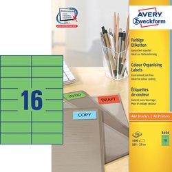 Grünes Etikett, für Inkjet / Farblaser / Laser (s/w) / Kopierer, permanent, 105 x 37 mm.