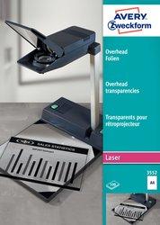 Overheadfolie, A4, für Laser (s/w )/ Kopierer, 0,10mm.