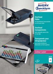 Farblaser+Kopier-Folie A4, 0,10 mm, Sensorstreifen kopfseitigVE = 1 Packung = 50 Blatt