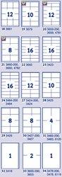 Universaletikett, für Inkjet / Farblaser / Laser (s/w) / Kopierer, permanent, 97 x 67,7 mm, weiß, mit Rand rundum, 100 Blatt = 800 Stück.
