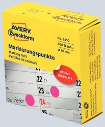 Markierungspunkte, Ø 10 mm, magenta, permanent, Inhalt: 250 Stück.