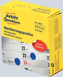 Markierungspunkte, Ø 10 mm, blau, permanent, Inhalt: 250 Stück.