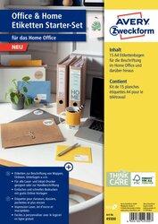 Home Office Etiketten-Set 15 Blatt, sortiert in Farbe und Anwenung