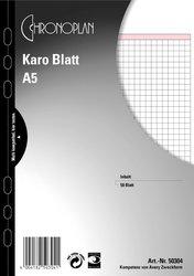 Chronoplan Karo-Blatt, A5, Papier, 148 x 210 mm, Inhalt: 50 Blatt.