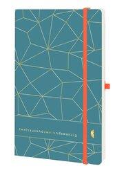 Chronobook Origin A5, 2022, 1 Woche / 2 Seiten, Latice Prägung, petrol