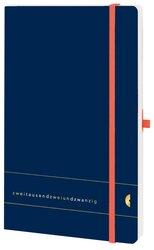 Chronobook Origin A5, 2022, 1 Woche / 2 Seiten, Elementary Prägung, deep ocean blue