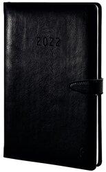 Buchkalender A5, Wochenplan, 2022, schwarz, Hardcover