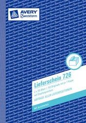 Lieferschein mit Empfangsschein, A5, mit 1 Blatt Blaupapier, Mikroperforation, 2 x 50 Blatt.