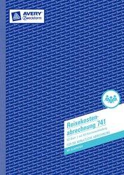 Reisekostenabrechnung, A4, mit 1 Blatt Blaupapier, Mikroperforation, 50 Blatt, monatliche Abrechnung.