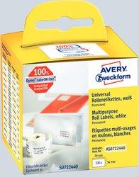 Avery Zweckform Rollenetiketten, 70x54mm, 320 Etiketten, weiß, für Thermodrucker (geeignet für Dymo/Seiko), Packung à 2 Rollen