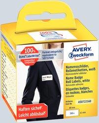 Avery Zweckform wiederablösbare Rollenetiketten Namensetiketten, 89x41mm, 200 Etiketten, weiß, für Thermodrucker (geeignet für Dymo)