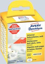 Avery Zweckform Rollenetiketten, 70x54mm, 160 Etiketten, weiß, für Thermodrucker (geeignet für Dymo/Seiko)