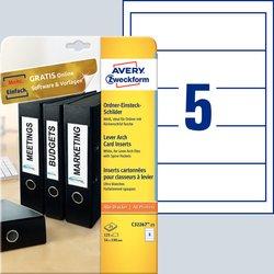 Ordnereinsteckschild, 54 x 190 mm, weiß / breitVE = 125 Etiketten per Pack