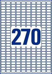 Avery Zweckform wiederablösbare Etiketten, 17,8x10mm, 6750+1350 Etiketten, weiß, für Laser-, Farblaser-, Inkjetdrucker, Kopierer, Packung à 25+5 Blatt, Blattformat: DIN A4