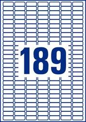 Avery Zweckform wiederablösbare Etiketten, 25,4x10mm, 4725+945 Etiketten, weiß, für Laser-, Farblaser-, Inkjetdrucker, Kopierer, Packung à 25+5 Blatt, Blattformat: DIN A4