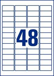 Wiederablösbare Etiketten, 45,7 x 21,2mm, weiß, 25 Blatt + 5 Blatt Gratis.