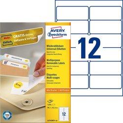 Universal-Etiketten ablösbar weiß 99,1 x 42,3 mm