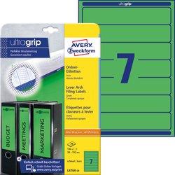 Rückenschild, Inkjet / Farblaser / Laser (s/w) / Kopierer, kurz/schmal, grün, A4, 38 x 192 mm, 20 Blatt = 140 Stück.