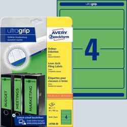 Rückenschild I+L+K kurz/breit, grün, A4, 61x192 mm, 20Bl=80St