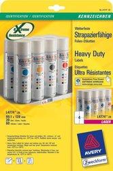 Wetterfeste Folien-Etiketten, für Farblaser / Laser s/w / Kopierer, 99,1 x 139 mm, weiß.