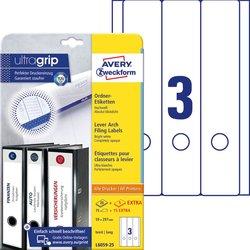 Rückenschild I+L+K lang/breit, weiß, A4, 59x297 mm, 25 Blatt +5 Blatt Gratis