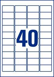 Avery Zweckrorm kristallklare Folienetiketten, 45,7x25,4mm, 1000 Etiketten, für Laser- und Farblaserdrucker öl- und schmutzabweisend, Packung à 25 Blatt, Blattformat: DIN A4