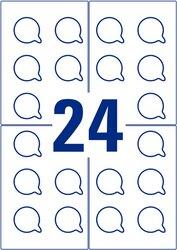 Avery Zweckform wiederablösbare Prüfplakette aus Polyester-Folie, Ø 30mm, 240 Etiketten, weiß, wetterfest, wasser- und schmutzabweisend, strapazierfähig, für Laser-, Farblaserdrucker, Kopierer, Packung à 10 Blatt, Blattformat: DIN A4, mit Abziehlasche