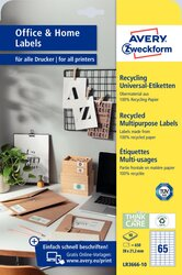 Universa-Etiketten Recycling permanent, 38 x 21,2 mm, naturweiß, für I/L/K.