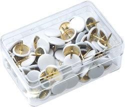 Reißnägel SUN Ø 9,5mm weiß plastiküberzogenVE = 1 Schachtel = 100 Stück